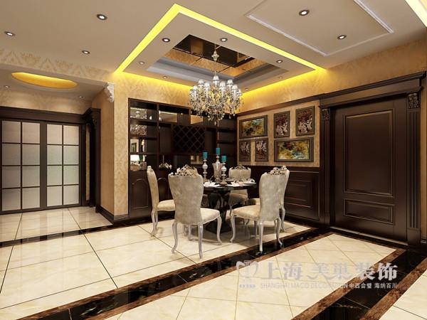 郑州蓝堡湾装修效果图鉴赏4室2厅居室户型160平案例设计——餐厅布局