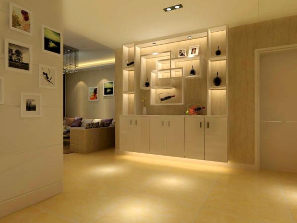 鞋柜采用多功能设计,这样也可以展示男女主人对生活的热爱