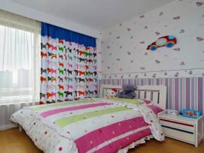 地中海 三居 白领 小资 客厅装修 儿童房图片来自沙漠雪雨在90平米浪漫蓝白地中海三室的分享