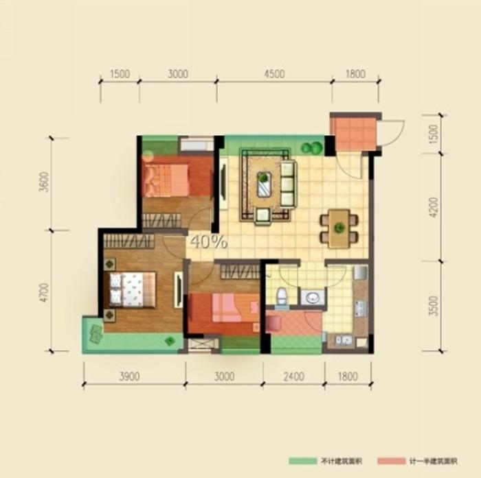 中式 三居 户型图图片来自创新思维装饰官方博客在保利中式风格的分享