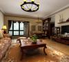 二七万达 三居室美式风格装修