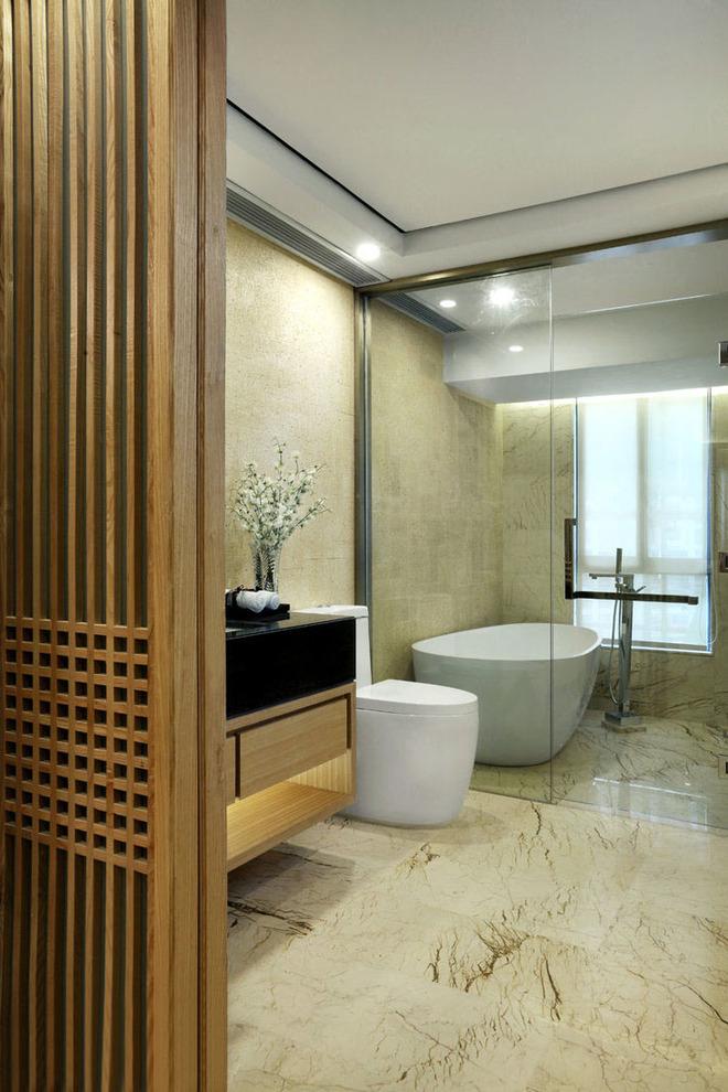 中式风格 客厅装修 中式客厅 卧室装修 洗手间装修 中式卧室装 卫生间图片来自上海实创-装修设计效果图在原木设计追求心素如简人如淡菊的分享