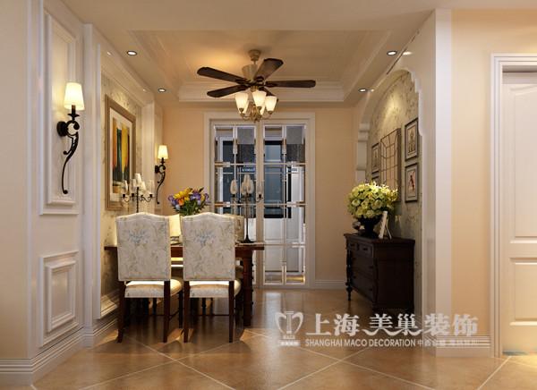 绿地老街简美110平两居室装修效果图——餐厅效果图