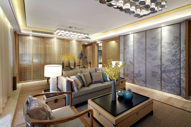 中式风格 客厅装修 中式客厅 卧室装修 洗手间装修 中式卧室装 客厅图片来自上海实创-装修设计效果图在原木设计追求心素如简人如淡菊的分享