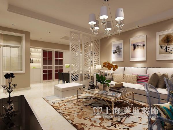 郑州金域上郡装修案例效果图赏析现代简约风格设计案例——两室两厅89平居室客厅样板间效果图