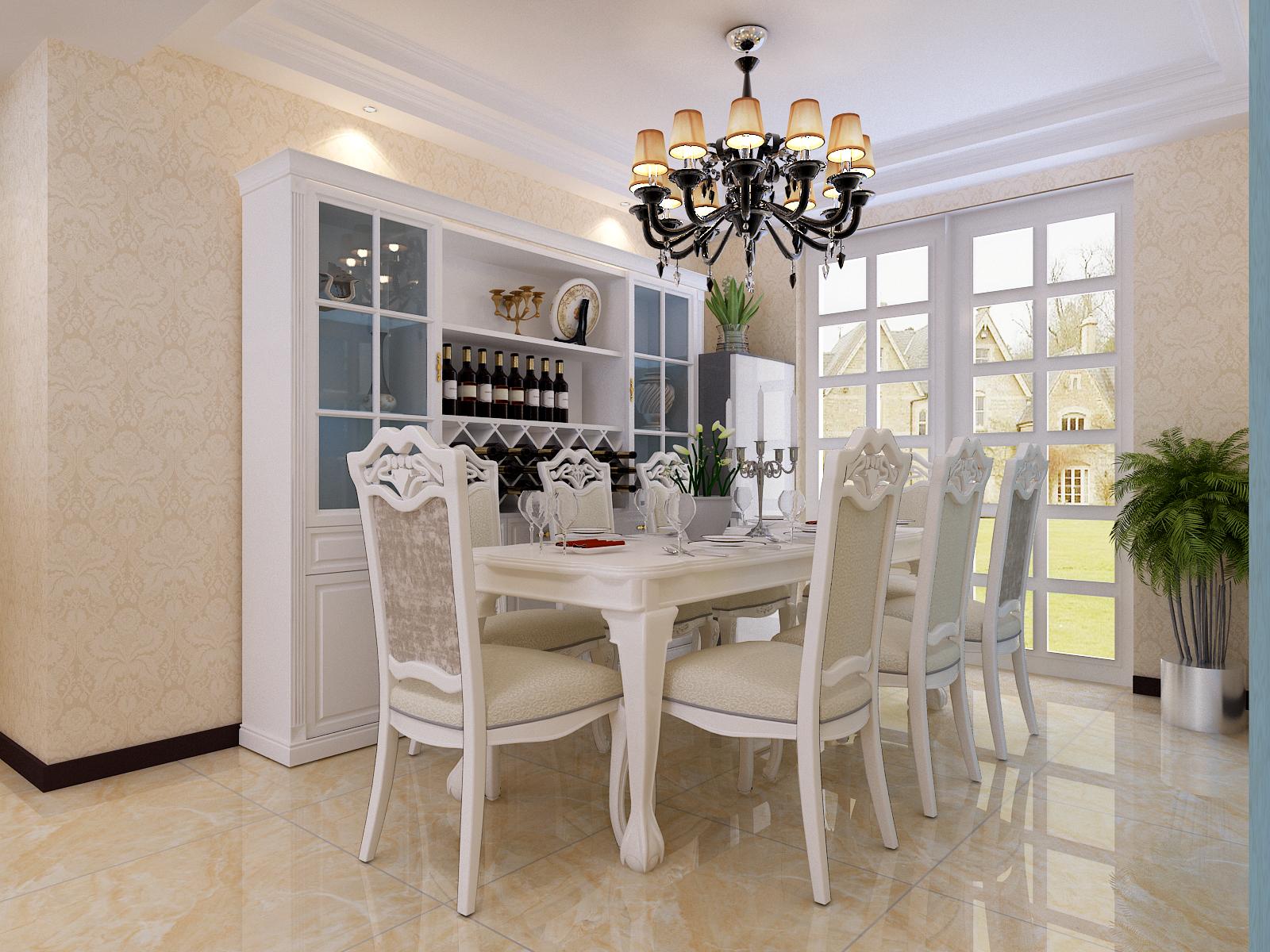 简约 欧式 混搭 三居 白领 小资 80后 餐厅图片来自杨会峰在简欧2的分享
