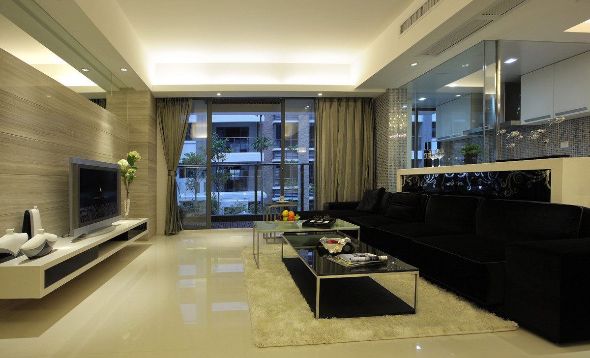 简约 二居 80后 小资 客厅图片来自创新思维装饰官方博客在中信城现代简约的分享