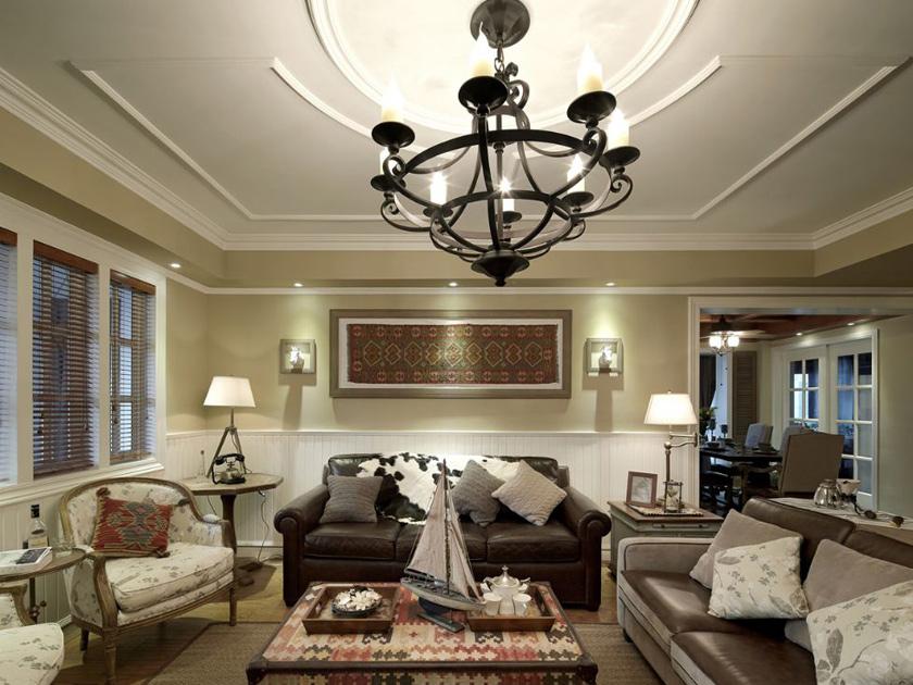 美式 现代 三居 家装 客厅图片来自南京实创装饰夏雨荷在金域蓝湾150平美式清新的分享