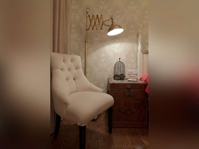 美式 现代 三居 家装 卧室图片来自南京实创装饰夏雨荷在金域蓝湾150平美式清新的分享