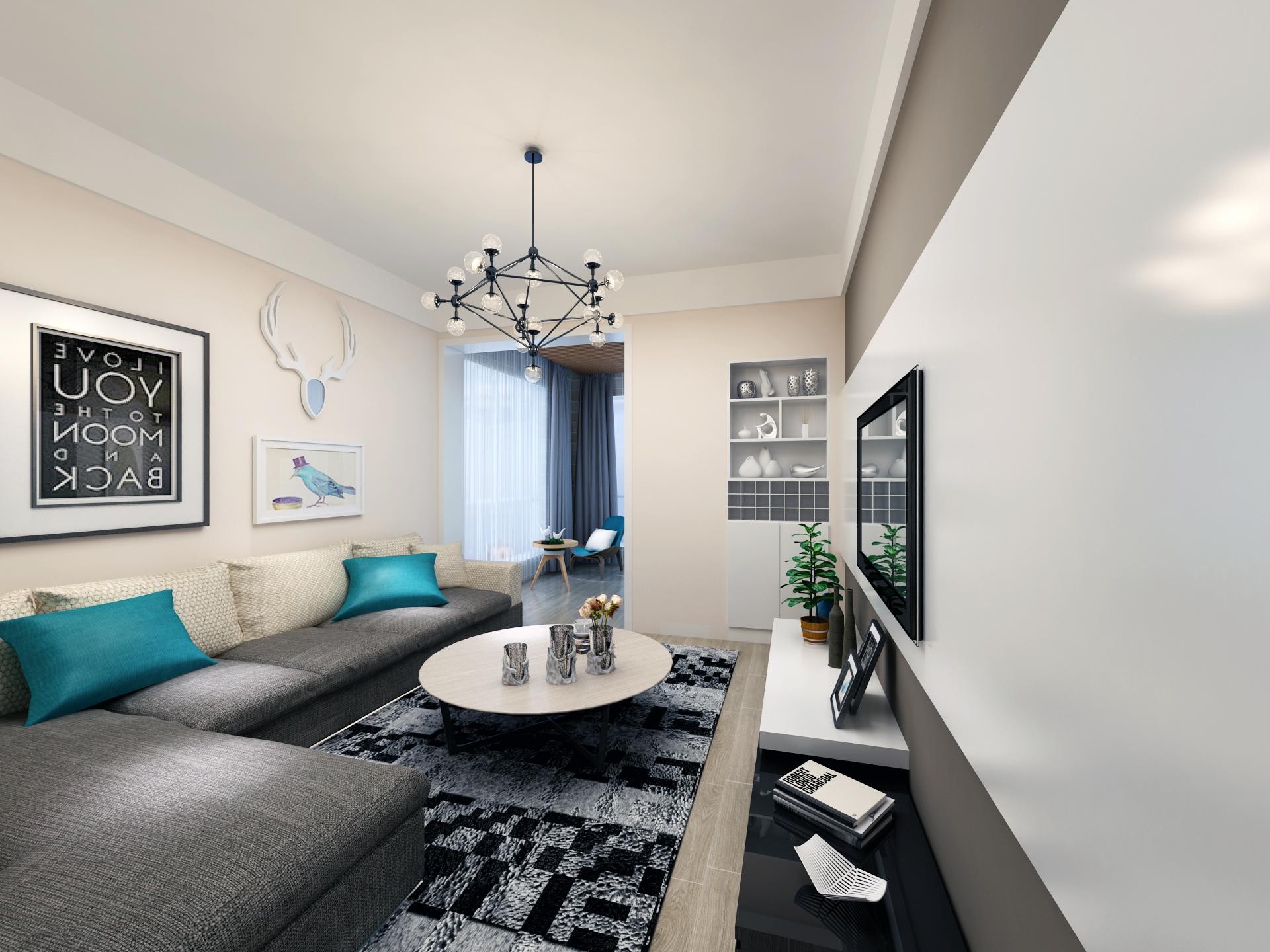 简约 二居 混搭 80后 小资 客厅图片来自杨会峰在两室两厅的分享