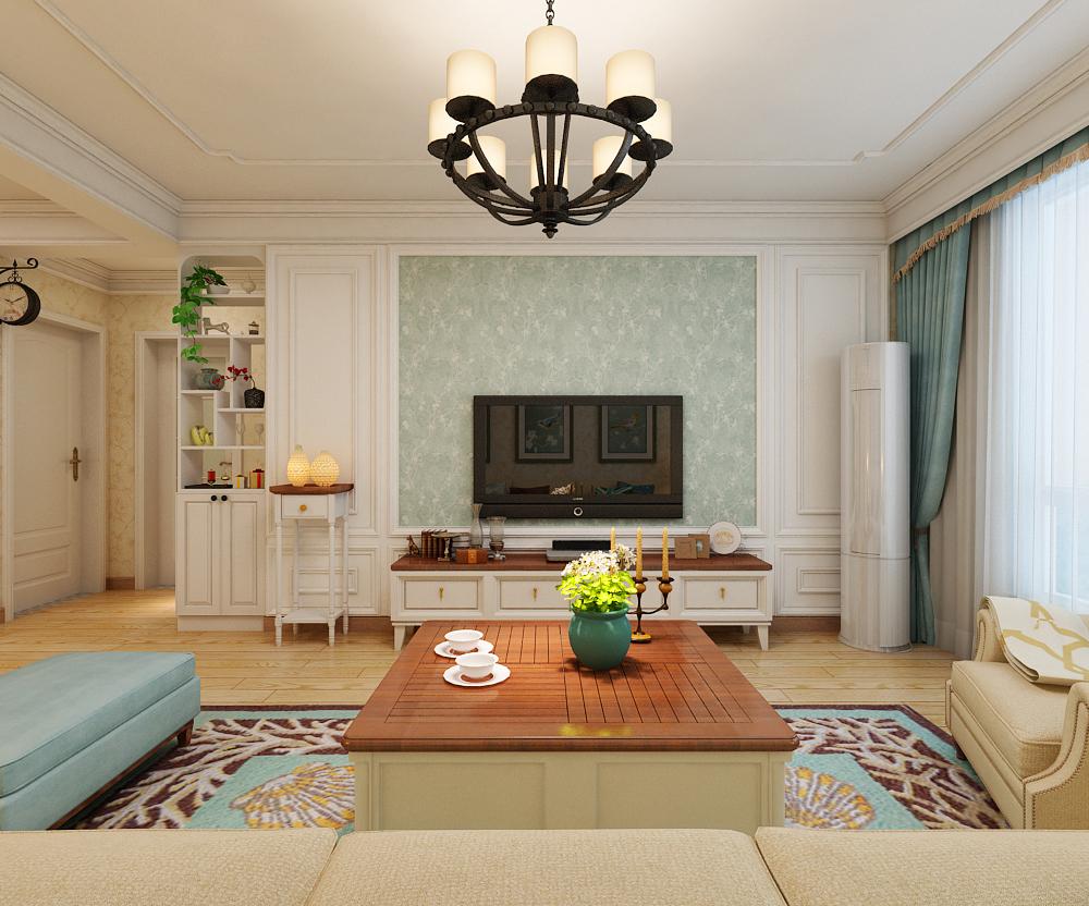 二居 美式风格 客厅图片来自乐豪斯装饰张洪博在天海誉天下两室装修效果图的分享