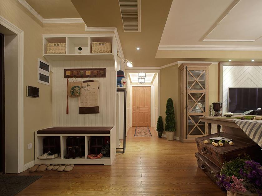 美式 现代 三居 家装 玄关图片来自南京实创装饰夏雨荷在金域蓝湾150平美式清新的分享