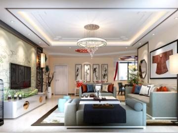 龙禧苑新中式风格装修案例