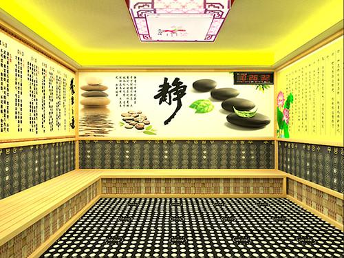 纳米汗蒸房,简约版纳米汗蒸房的主墙照,通过次效果图可以展示我们公司装修汗蒸房的简约型汗蒸房效果