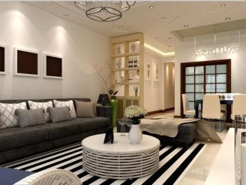 中大国际四居室现代风格装修案例