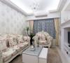 浪漫的古典家具与壁炉电视墙相对,呈现女主人梦想中的浪漫居所。