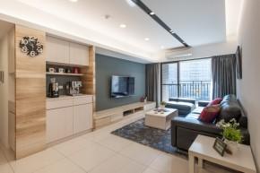 北欧 木式 舒适 客厅图片来自成都丰立装饰工程公司在木色北欧  打造舒适生活的分享