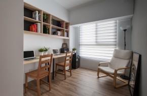 北欧 木式 舒适 书房图片来自成都丰立装饰工程公司在木色北欧  打造舒适生活的分享