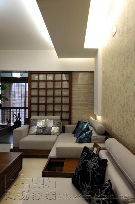 客厅图片来自鸿扬家装武汉分公司在广电兰亭之文士雅风的分享