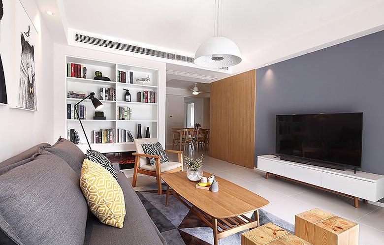 客厅图片来自家装大管家在现代日式 97平温润醇和兼顾隐私的分享
