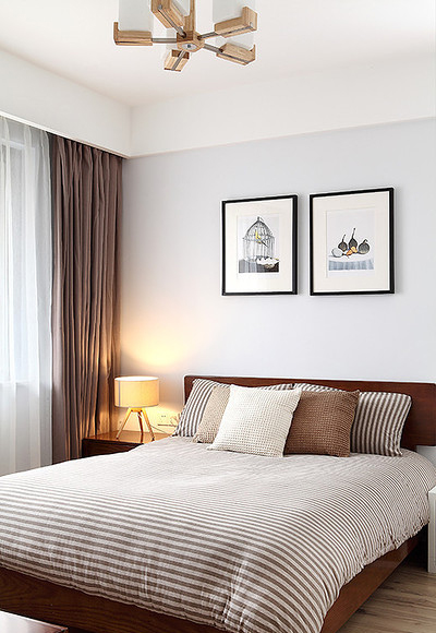 卧室图片来自家装大管家在现代日式 97平温润醇和兼顾隐私的分享