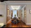整个空间以奶咖白色调为主,配以优雅的造型、 细致的线条和高档油漆处理,散发着从容淡雅的生活气息。