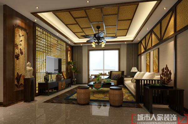 这是一个新兴的居住与休闲相结合的概念,广泛地运用木材和其他的天然原材料,如藤条、竹子、石材、青铜和黄铜,深木色的家具,局部采用一些金色的壁纸、丝绸质感的布料,灯光的变化体现了稳重及豪华感。