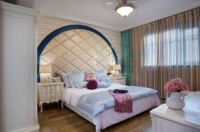 地中海 舒适 现代 三居 卧室图片来自一号家居网成都站在凯德卓锦万黛的分享