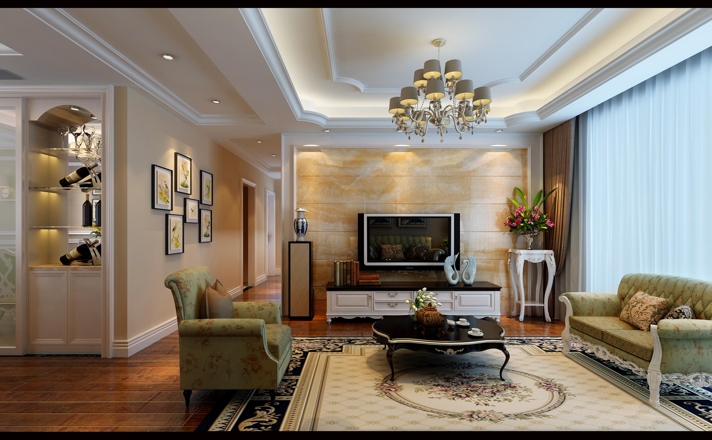 三居 白领 收纳 简约 客厅图片来自合肥生活家在生活家装饰中铁滨湖名邸简欧风格的分享