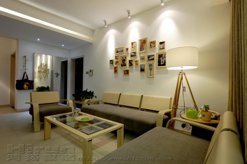 客厅图片来自鸿扬家装武汉分公司在南国明珠北欧之光的分享