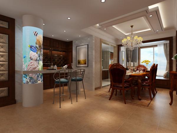 龙发装饰东胜137欧式风格装修餐厅效果