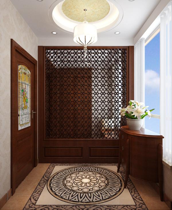 龙发装饰东胜137欧式风格装修门厅效果