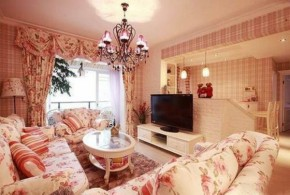 田园 三居 小女人 温馨 客厅图片来自一号家居网成都站在新界五期的分享