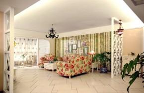 简约 田园 二居 温馨 客厅图片来自一号家居网成都站在保利花园田园风的分享