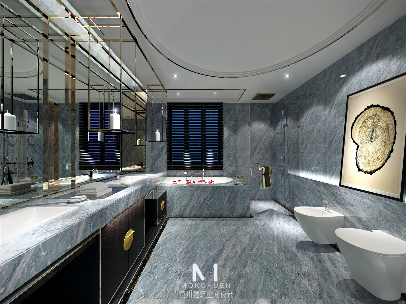 卫生间图片来自莫川王远在长沙卧琥会所-中式风格的分享
