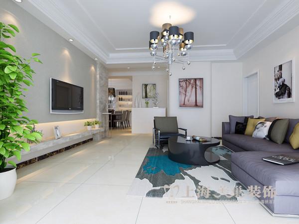 省工会家属院装修效果图160平三室两厅户型装修案例——客厅全景设计