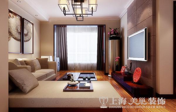 洛阳名仕嘉园两室两厅100平装修效果图——客厅全景设计