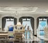这是第二个效果图,窗帘和抱枕颜色的的抢眼给法式浪漫注入了宫廷般的堂皇,设计出来的效果属于贵族风格,高贵典雅。