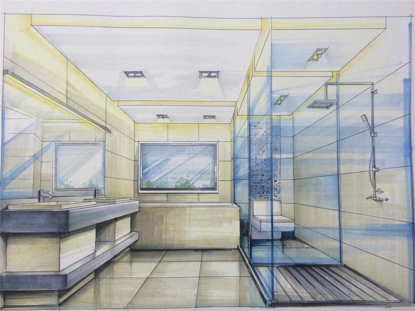 别墅设计 现代简约 卫生间图片来自莫川王远在君临天下-现代风格的分享
