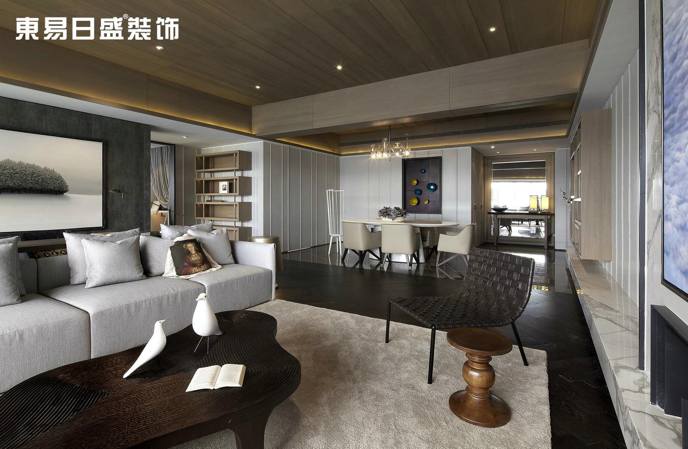 客厅图片来自武汉东易日盛在华侨城-北欧风格-罗勇的分享