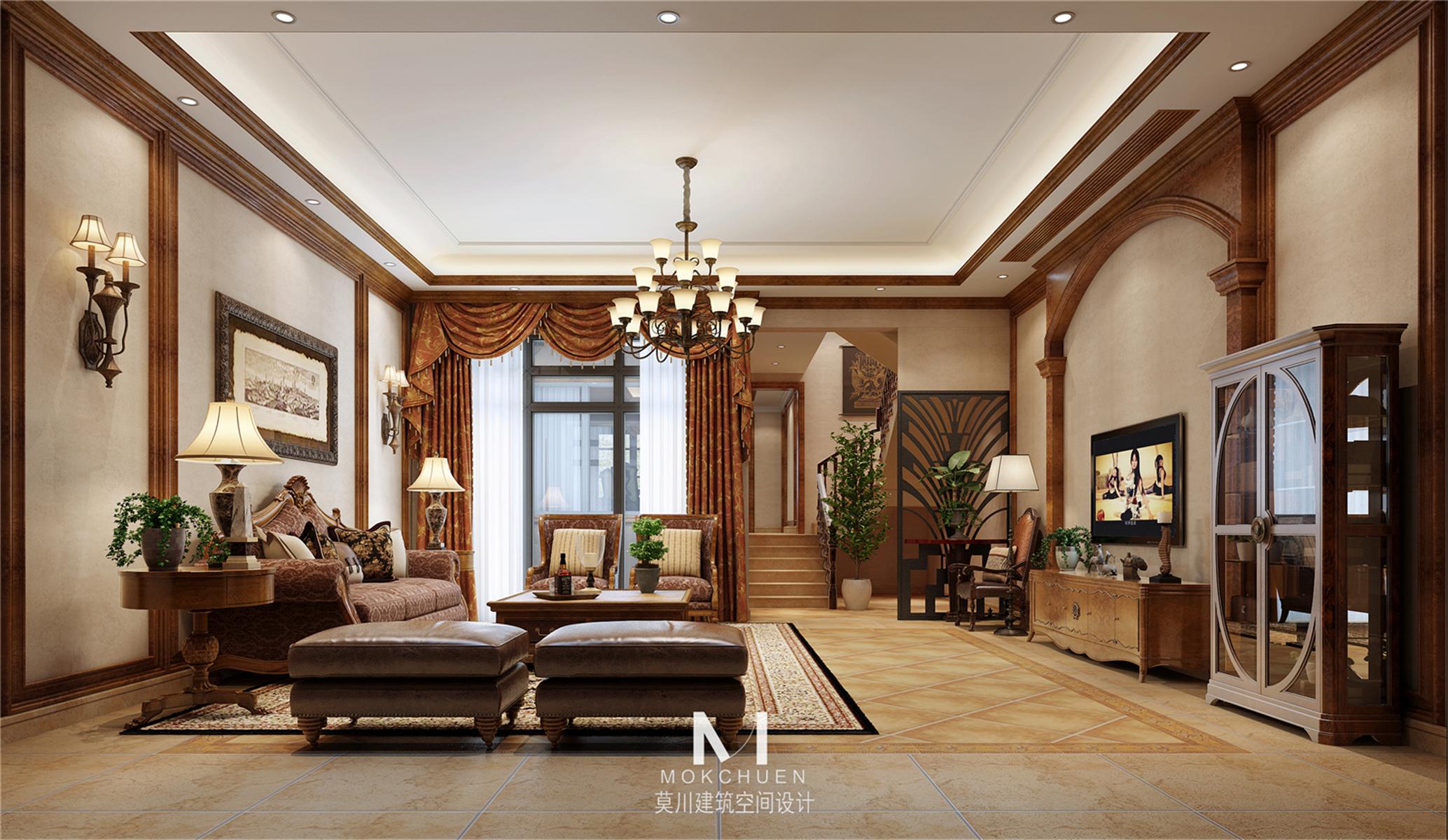 别墅设计 美式风格 堂皇磅礴 客厅图片来自莫川王远在曦城一期-美式风格的分享