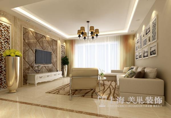 缤纷广场166平装修四室两厅现代效果图——客厅全景效果图
