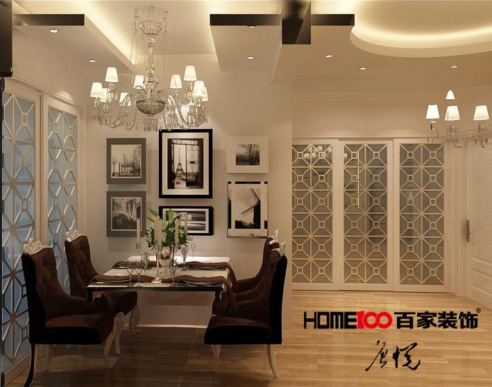 依云首府 四居 纯欧 餐厅图片来自百家设计小刘在依云首府150平纯欧半包6.5万的分享