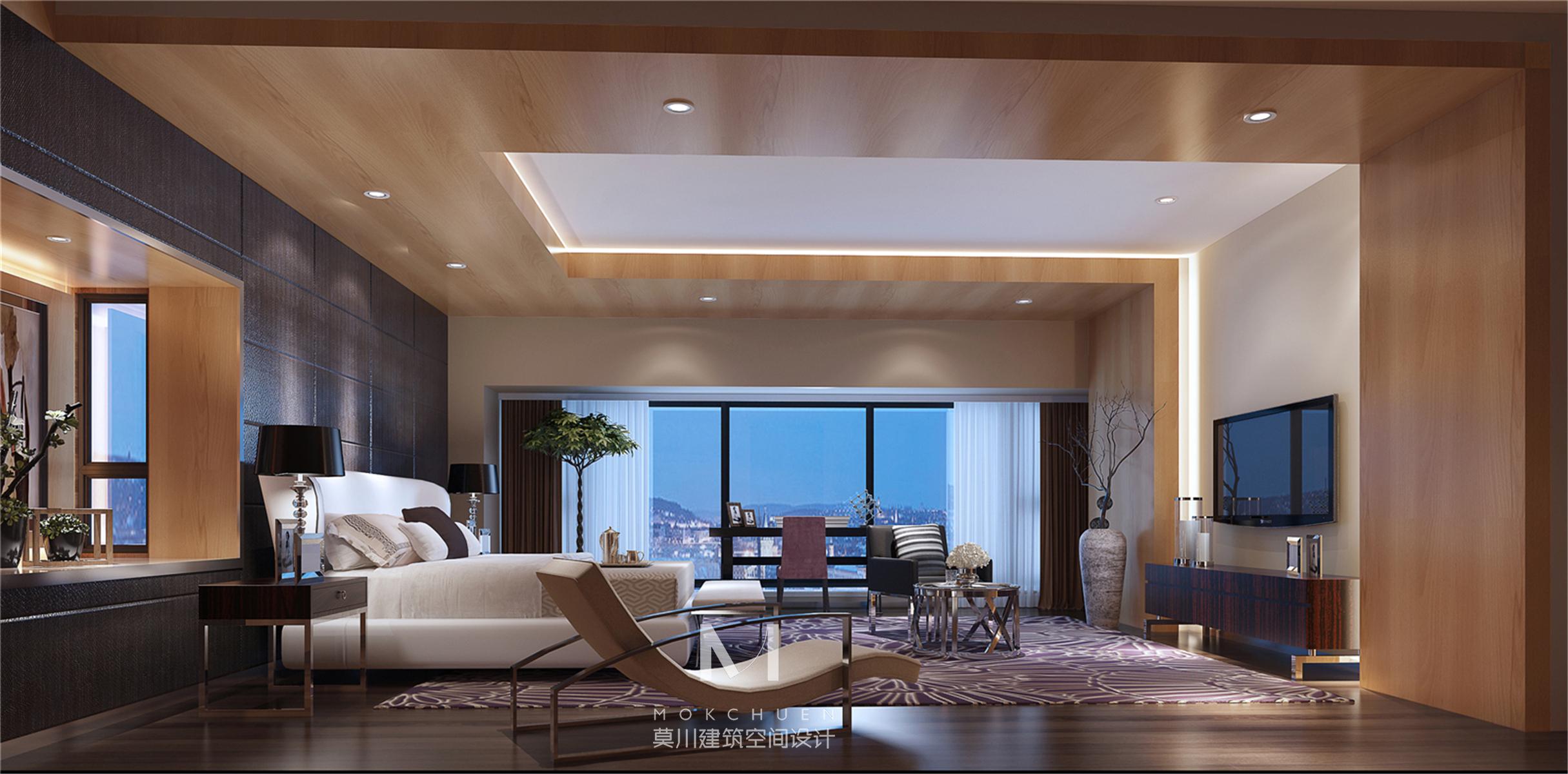 别墅设计 现代简约 卧室图片来自莫川王远在君临天下-现代风格的分享