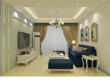 紫晶悦城96㎡地中海风格案例赏析