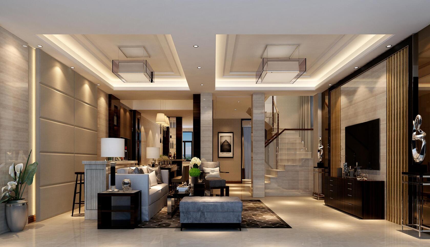 东郊华庭 装修设计 新中式风格 腾龙设计 曹晖作品 客厅图片来自设计师曹晖在东郊华庭别墅装修新中式设计的分享