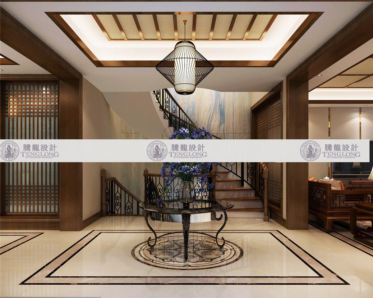 浦发博园 别墅装修 别墅设计 新中式风格 腾龙设计 玄关图片来自设计师曹晖在浦发博园别墅装修新中式设计的分享