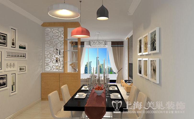 二居 简约 现代 尚城国际 餐厅图片来自河南美巢装饰在南阳尚城国际87平简约装修效果图的分享