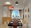 餐厅是家居生活的心脏,不仅要美观,更重要的是实用性,整体性。餐厅的灯光很重要既不能太强又不能太弱,灯光则以温馨的黄色为基调,顶部做了简单的吊顶。