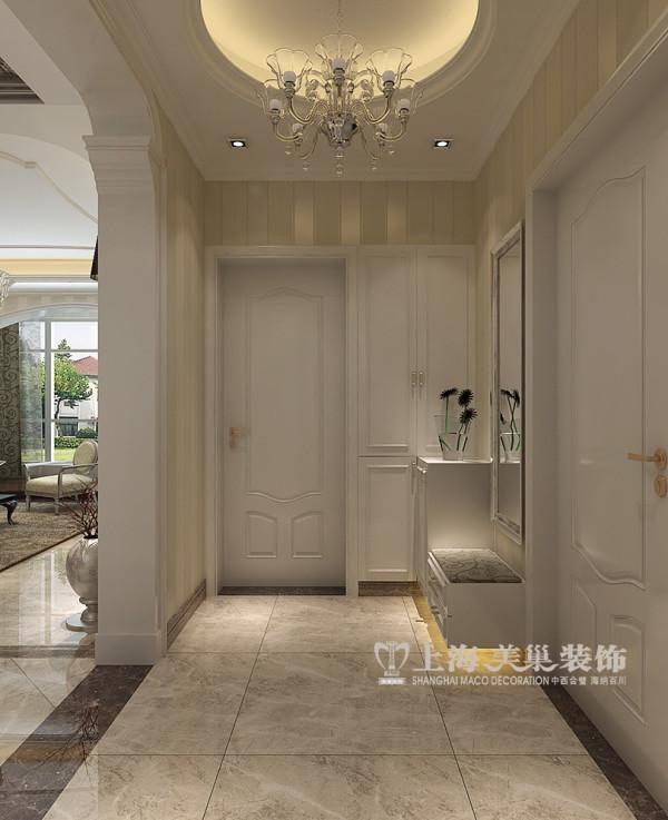 联盟新城装修装修160平居室三居室户型设计——玄关布局